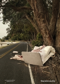 """Ngủ khoẻ trước khi lái xe đường dài - """"Crashed Beds"""""""